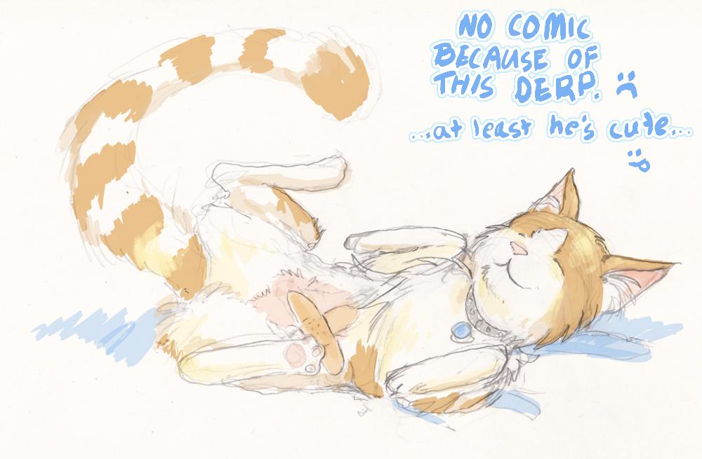 Filler Art: My Cat Ate the Comic