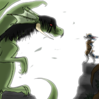 The Encounter by dragonwolfrooke@DeviantArt